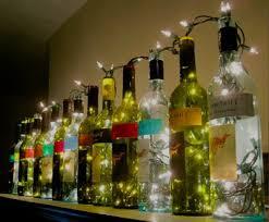wine bottle lighting. diy repurposed wine bottle lighting