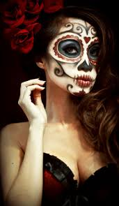 sugar skull day of the dead makeup