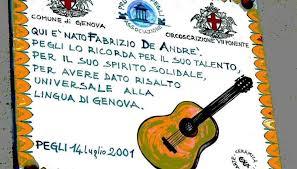 Fabrizio de Andrè e la città di Genova: i luoghi di Faber