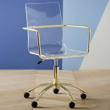 Off white office chair Cream Gold Paige Acrylic Swivel Chair Pbteen Pertaining To Desk Design Onlyxocomdesign Interior Off White Office Chair Medium Size Of Seat Chairs Gold Throughout