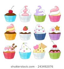 animated birthday cupcakes. Contemporary Cupcakes Set Of Colorful Sweet Cupcakes With Decorations  Berries Sprinkles  Wafer Candies With Animated Birthday Cupcakes O