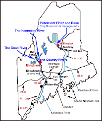 Maine Whitewater White Water Rafting Maine Directions To