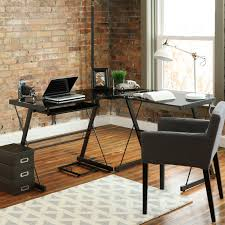 walker edison 3 piece soreno l shaped computer desk black d51b29 new