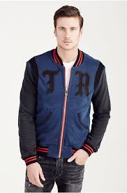true religion great true religion hand picked knit varsity jacket midnight jackets mens true religion true religion