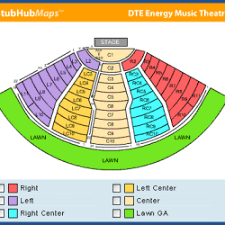 Dte Music Theater Seating Chart Dte Concerts Seating Chart 2019