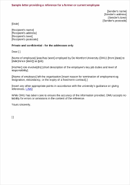 Reference Letter Format For Job Application What Makes Nyfamily