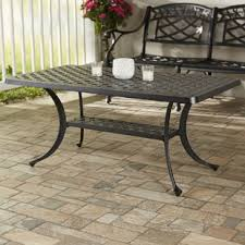 woven metal furniture. Lomax Cast Aluminum Rectangular Coffee Table Woven Metal Furniture V