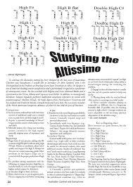 Altissimo Clarinet Chart