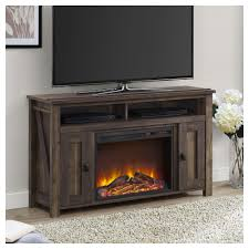 ameriwood furniture farmington electric fireplace tv console for tvs up to 50 rustic