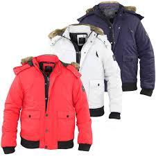 Designer Fur Jacket Men Details About New Men Smith Jones Designer Heavy Padded Fur Trim Zip Hood Jacket Winter Coat