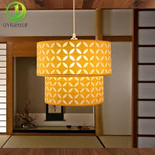 Creative Designs In Lighting Modern Yellow Double Deck Pendant Light Vmc Creative Designs