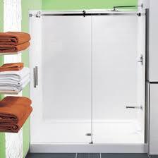 tile shower stalls. Tiled Shower With Preformed Base And Glass Doors Tile Stalls