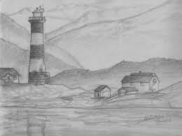 easy pencil drawings of scenery google search