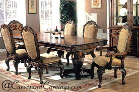 curves u0026 carvings signature collection dining table set cu0026c dtc0050 wooden antique dining tables g95 wooden