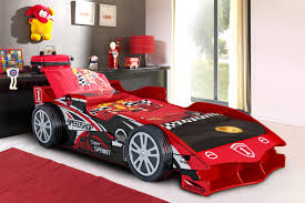 Bedroom : Amazing Boys Bedroom With Red Cool Race Car Bed Near Black Wall  Shelves With Drum Shaped Red Table Lamp Also Red Rug Boys Room: Fantactic  Car Kids ...