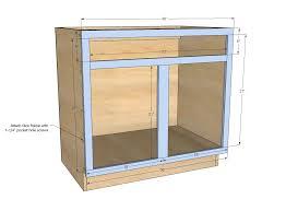 ana white 36 sink base kitchen cabinet momplex vanilla kitchen diy projects
