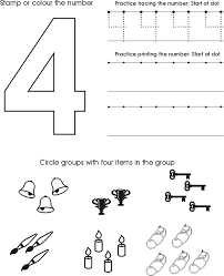 Number Four Worksheet | Free Preschool Printable | CC- General ...