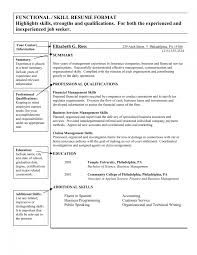 Skills Resume Examples List Of For Sample Qualifications Based Skill