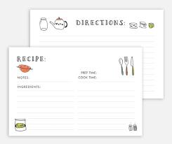 printable blank recipe cards recipe card printable recipe card recipe card template etsy