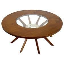 interior splay leg mid century modern round walnut coffee table at antique original 4 wood