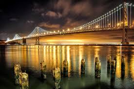 Bay Bridge Lights Project San Francisco Oakland Bay Bridge Berkeley California
