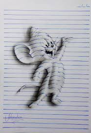 3d lines notepad drawings 15 years old joao