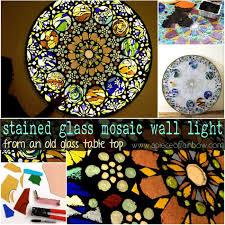 stained glass mosaic light apieceofrainbow 1b