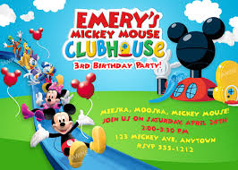 Mickey Mouse Clubhouse 2nd Birthday Invitations Mickey Mouse Clubhouse Invitation Free Mickey Mouse