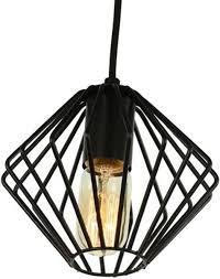 Bolcom Yardley Retro Draad Design Hanglamp Zwart