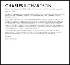 Sample Cover Letter For Account Executive Position Adriangatton Com