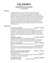 Go Resume Wonderful 371 Best Epic Go Live Consultant Resumes ResumeHelp