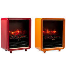 Crane 1500Watt Mini Fireplace Heater  BlackEE8075BK  The Home Mini Fireplace