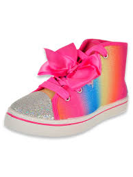 Jojo Siwa Girls Rainbow Style Hi Top Sneakers Sizes 11 4