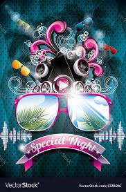 Beach Flyer Summer Beach Party Flyer Design With Speakers Vector Image