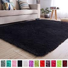Image Fluffy Pagisofe Soft Kids Rug Nursery Decor Bedroom Living Room Carpet 4 53 Amazoncom Black Rugs Amazoncom