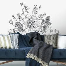 botanical wall decals posters prints