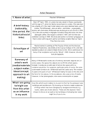 artist research contextual studies artist research 1