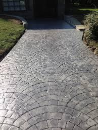 Parker Concrete Designs Fan Cobblestone Concrete Driveways Driveway Design