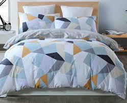 bulutu geometric kids duvet cover sets twin white for boys girls 100 cotton luxury bedding