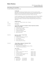Resume Overview Samples Job Resume Objectives Examples Mig Welder