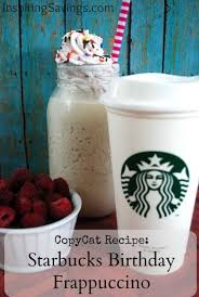 diy homemade copycat starbucks birthday frappuccino want to save your money and your waistline