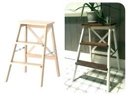 ikea wooden step stool ladder toddler white
