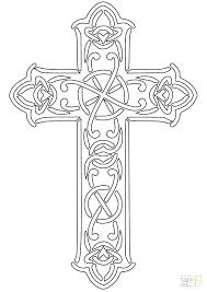 Easter Cross Coloring Page Cross Colouring Card Religious Easter