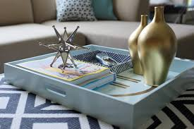 Decorating With Trays On Coffee Tables Styling Tips for Decorating with Trays 3