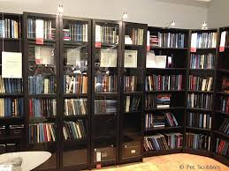 ikea display of billy bookcases for library