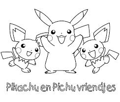 Pokemon Kleurplaten Pikachu Pichu