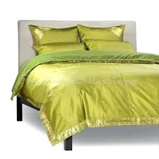 olive green duvet cover olive green 5 piece handmade sari duvet cover set with pillow covers