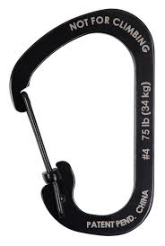 <b>карабин Nite Ize</b> Carabiner SlideLock #4 черный по самой ...