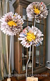 paper flower stand serendipity refined blog diy giant free