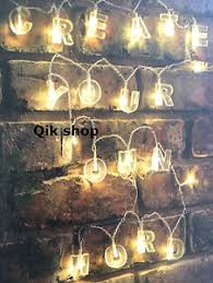 make your own lighting. Image Is Loading 20-LED-Alphabet-String-Lights-Create-Your-Own- Make Your Own Lighting R